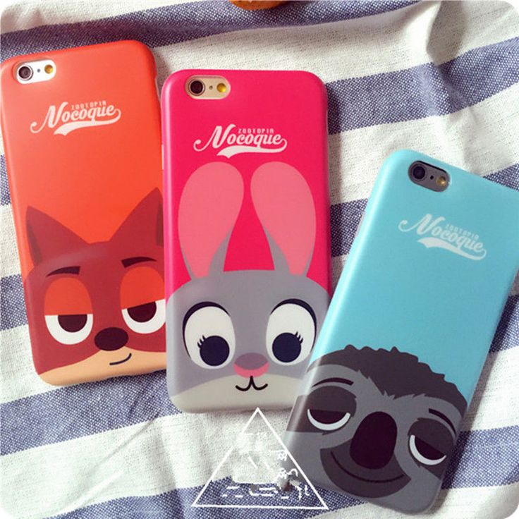 Cartoon Hot cute Zootopia Judy Nick Soft back case cover for iphone 6 6S plus #UnbrandedGeneric