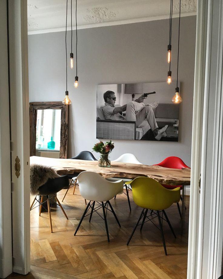 201 best massivholztische esstische dinningtable images on - Baumtisch esszimmer ...