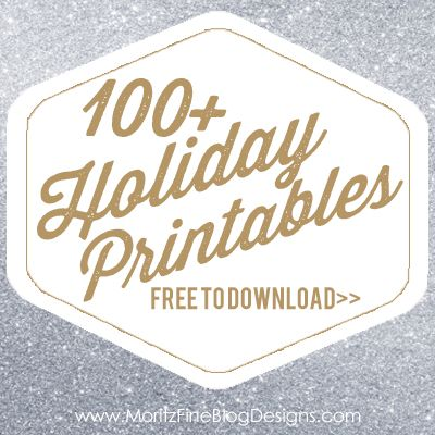 100+ FREE holiday printables! All are FREE to download & easy to use! Including Christmas Subway Art, recipe cards, organizational planners, gift tags.