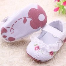 Infantil da criança do bebê sapatos primeiro Walkers Floral Lace Prewalker suave Sole berço sapatos para frete grátis(China (Mainland))