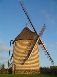 Windmill Beuvry, Bethune,Noeux-Les-Mines, Nord-Pas-de-Calais (59).