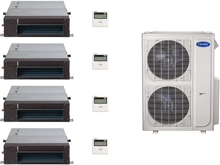 carrier split system. carrier ca36k281 4 room mini split air conditioning system with heat pump, inverter compressor technology -