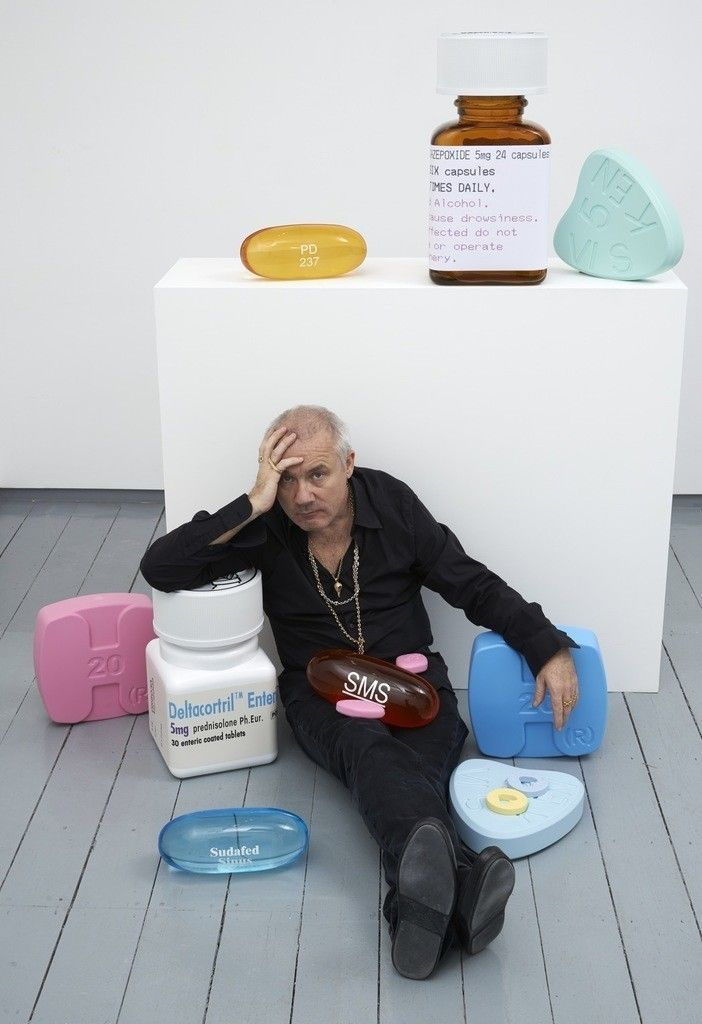 "damien hirst,  newest narcotics make their debut ? Schizophrenogenesis"" is on view at Paul Stolper Gallery, London, Oct. 9th–Nov. 15th, 2014."