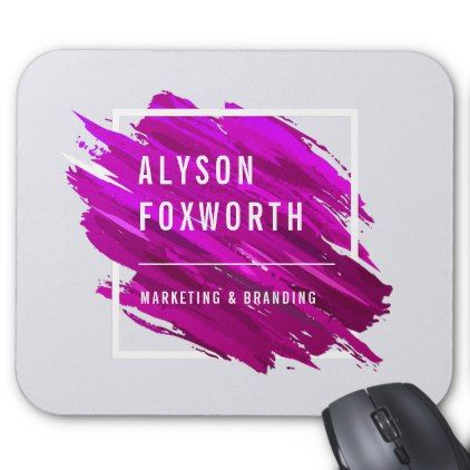 Abstract Paint Logo Custom Mouse Pad - business logo cyo personalize customize diy special