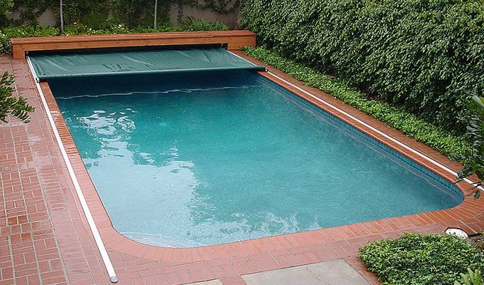 Automatic Safety Swimming Pool Covers For The Home Pinterest