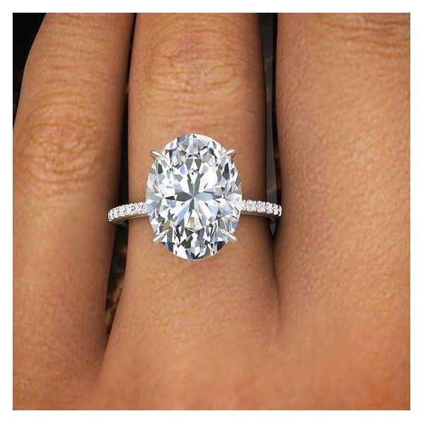 2.00 Ct Natural Oval Cut Pave Diamond Engagement Ring GIA Certified  |... ❤ liked on Polyvore featuring jewelry, rings, pave diamond engagement rings, wedding rings, oval stone ring, wedding jewellery and pave set diamond ri