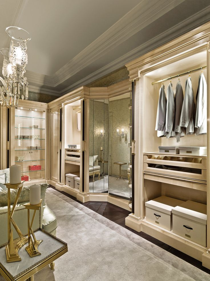 Luxury walk in wardrobe designs by Italian furniture creator Provasi - The beautiful Italian furniture designs of Provasi, combining traditional and contemporary style to produce iconic works or art. Showcasing at Salon del Mobile, Milan
