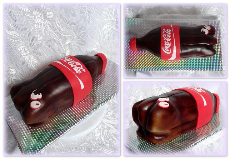 Coca cola bottle cake