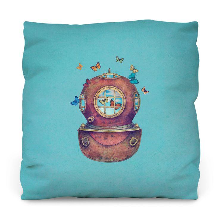 Inner Space Outdoor Throw Pillow
