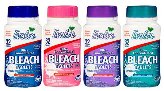 bleach tablets.