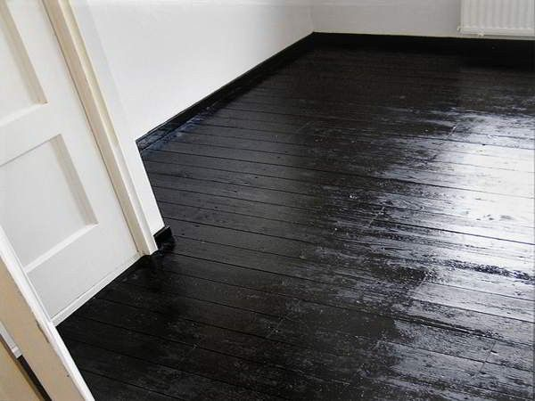 Black Painted Wood Floors   Google Search