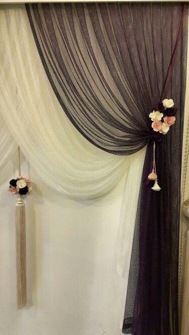 Essa curtain #flowers
