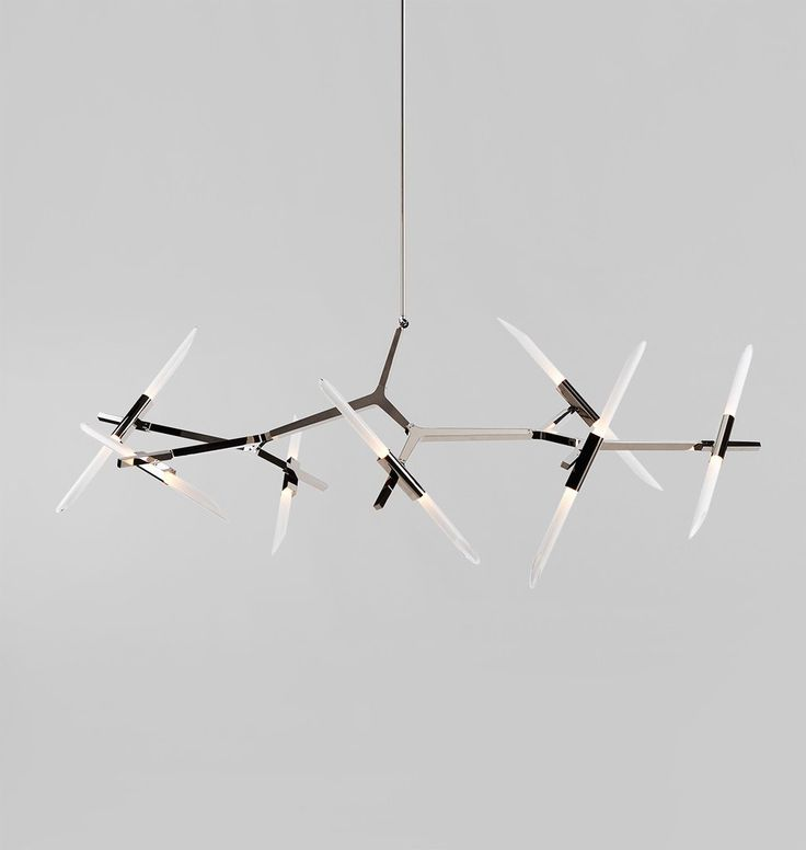 Agnes Chandelier - 14 Lights (Polished nickel/Angle-cut glass)