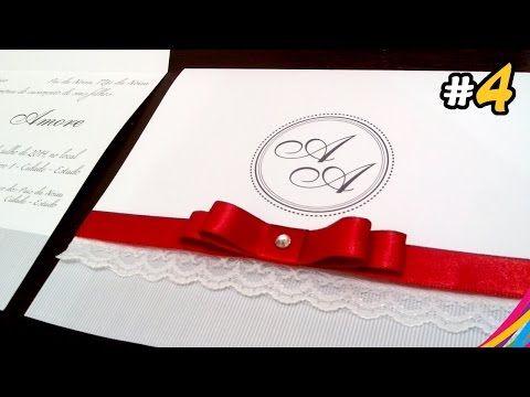 738 best wedding invitations images on pinterest invitations convite de casamento wedding invitation invitacion de la boda diy 4 youtube stopboris Gallery