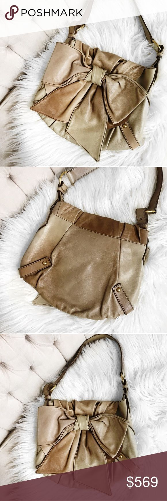 """Ysl leather bow bag Love this! Super chic distressed leather bow bag by Yves Saint Laurent. No trades. All photos are of actual item you will be receiving. Prices are always flexible, send me your offer! 11.5x11 with 11"""" drop Yves Saint Laurent Bags"""
