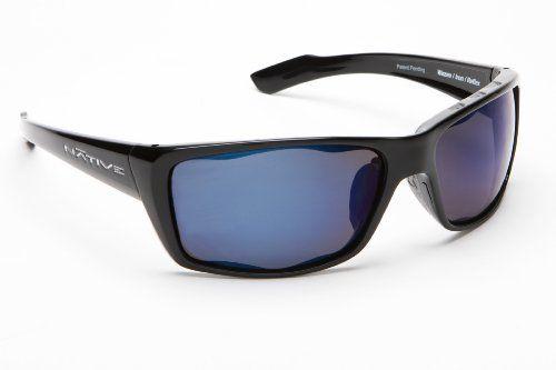 Native Eyewear Wazee Sunglasses, Blue Lens/Iron Frame