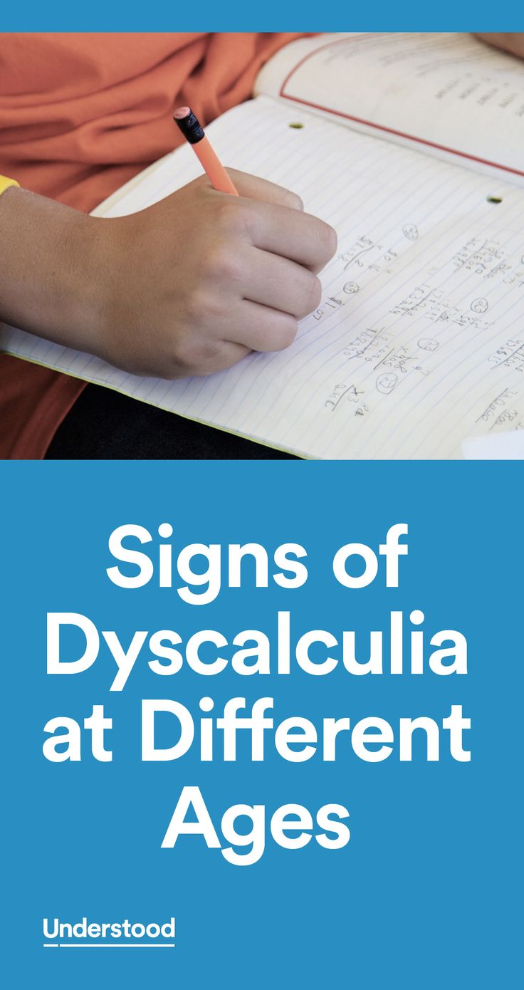 Signs of dyscalculia aren't always easy to spot. This checklist can give you a better idea of dyscalculia signs at different ages, like trouble with counting and number sense.