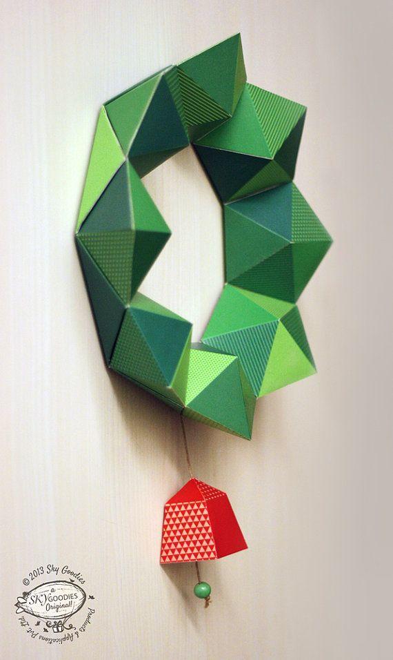 Guirlande de Noël bricolage papier / Decor Dessin par SkyGoodies                                                                                                                                                                                 Plus