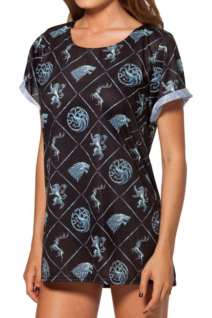 2014 Mode féminine T  shirt Black Milk T  shirt Game of Thrones Win or Die T   shirt pour femme Black Milk shirt Livraison gratuite dans T-shirts de Vêtements & accessoires sur AliExpress.com | Alibaba Group