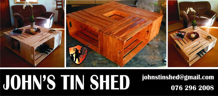 Re Purposed wine crates
