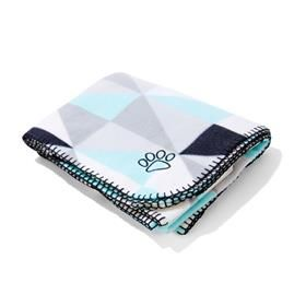 Polar Fleece Pet Blanket - Geometric Print