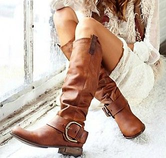 boots<3: Shoes, Fashion, Style, Leather Boots, Cute Boots, Madden Boots, Steve Madden, Brown Boots, Stevemadden