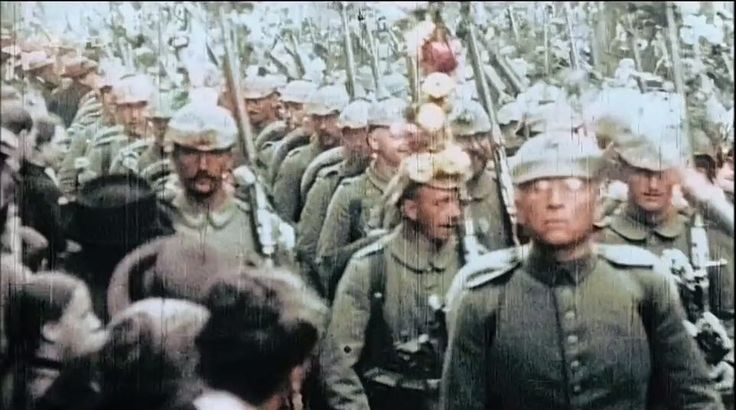 Incredibly Sad Rare German First World War Footage - In Color