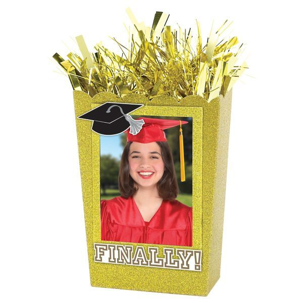 Large Personalized Gold Graduation Balloon Weight Centerpiece