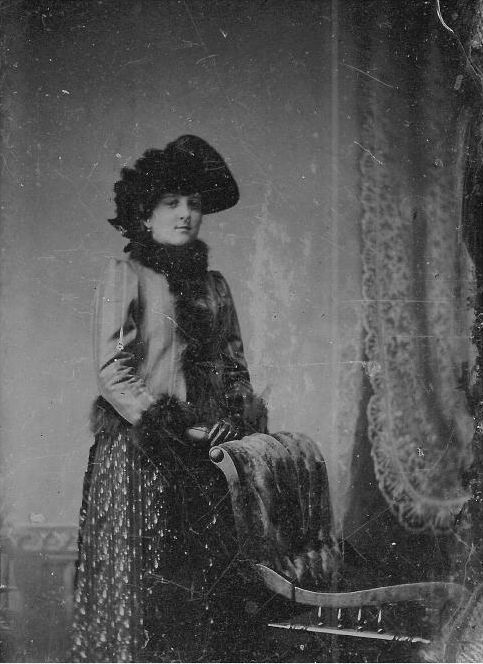 THIS PHOTO WAS TAKEN IN PRESCOTT, ARIZONA TERRITORY, IN 1880, AND IS BELIEVED TO BE OF A YOUNG JOSEPHINE
