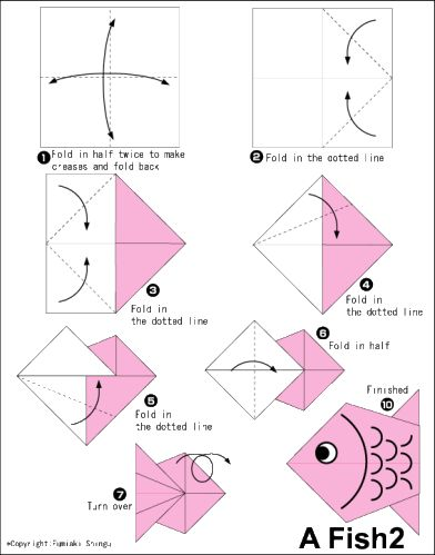 17 best images about pirate on pinterest paper bows for Origami fish instructions