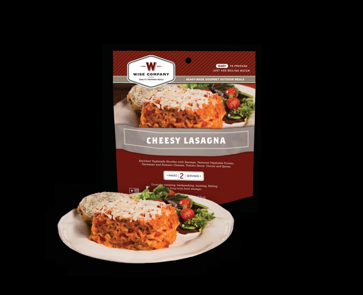 Survival Food Kits - Cook in the Pouch - Cheesy Lasagna (6 PACK), $39.95 (https://www.survival-food-kits.com/cook-in-the-pouch-cheesy-lasagna-6-pack/)