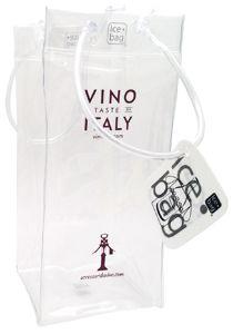 Ice bag borsa secchiello in pvc per vino e spumante, per bottiglia singola. Spessore mm 0,3