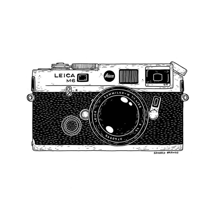 Leica M6. #leica #photography #camera #vintage #retro #m6 #ink #tattoo #illustration