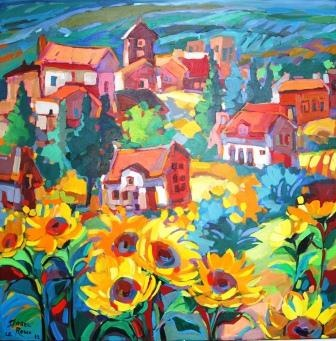 City Sun Oil painting 970x970 R17000