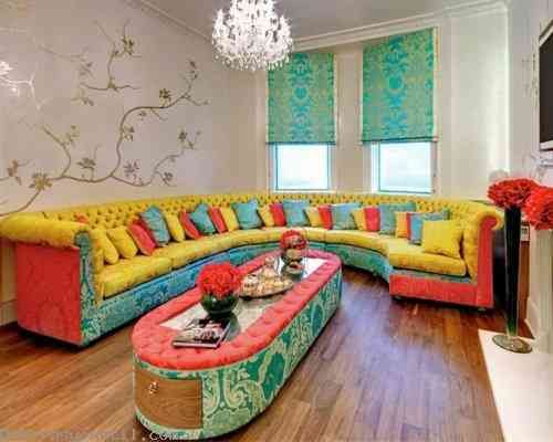 painting living room tables colorful rooms pictures painted furniture with oak top coloured