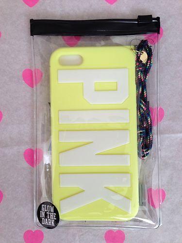 Victoria's Secret Pink Soft Glow in The Dark iPhone 5 Case Neon Green