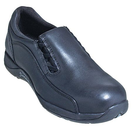 Blundstone Women's Black Slilp-On Steel Toe Work Shoes 743