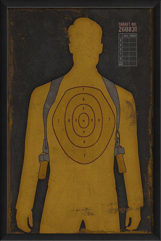 Human Target Framed Graphic Art
