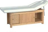 Unisex Salon Purpose, Wooden Massage Bed, Facial Bed / Pedicure Bed With Storage inside