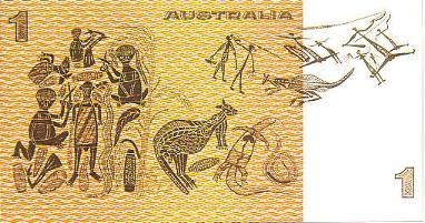 """In 1966 David Daymirringu's painting """"Mortuary Feast"""" was used on the Australian one dollar note without his prior consent. He then called himself the """"Dollar Note Man"""". (aka David Malangi, deceased)"""