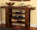 Awesome Sideboard made from wine barrel staves.