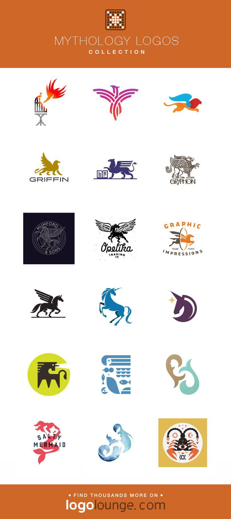 Groovy Logo Collections Mythology Vector Logo Designs Phoenix Interior Design Ideas Inesswwsoteloinfo