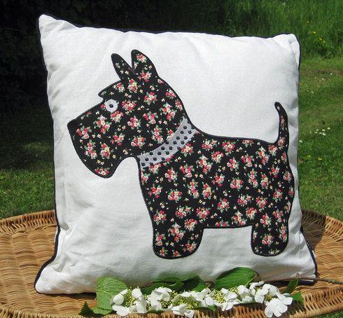 Jock Scottie Dog Cushion