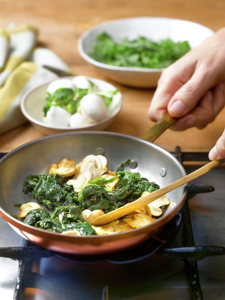 Muffins de espinacas y champiñones Healthy Cooking, Cooking Recipes, Gluten Free Recipes, Healthy Recipes, Crepes, Deli, Tapas, Buffet, Veggies