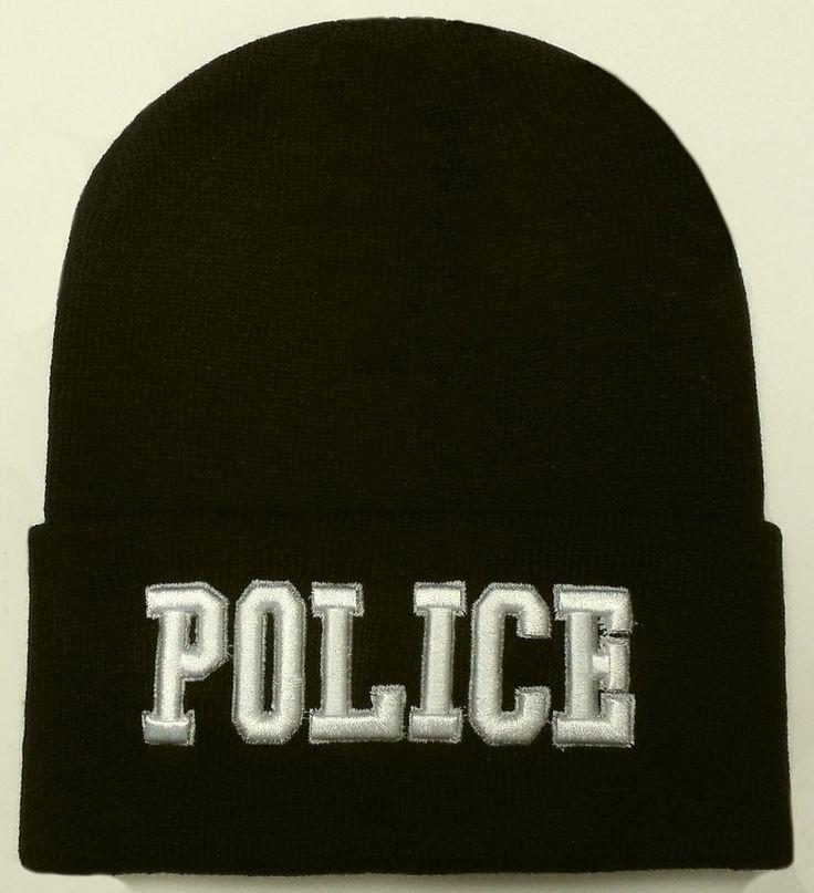 POLICE OFFICER LAW ENFORCEMENT AGENT SWAT WINTER BEANIE KNIT WATCH CAP SKI HAT #PREMIUMHATS #Beanie