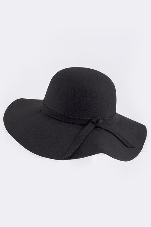 Warm in Winter Floppy Hat - Black