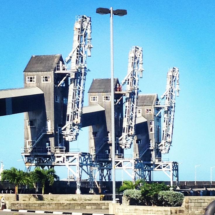 Cranes at Bridgetown Habour, Barbados