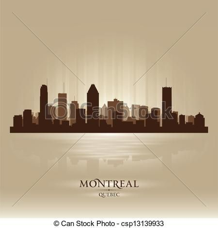 Montreal Quebec skyline city silhouette - csp13139933