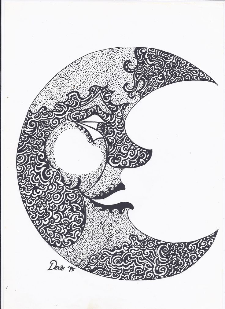 the man on the moon black ink