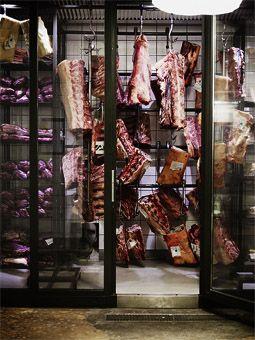 now thats a meat room   AG Restaurang & Bar  Kronobergsgatan 37 - meat lovers paradise